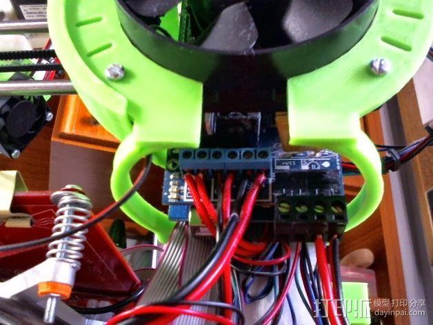 Prusa i3 打印机风扇 3D模型  图6
