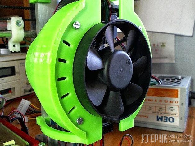 Prusa i3 打印机风扇 3D模型  图5