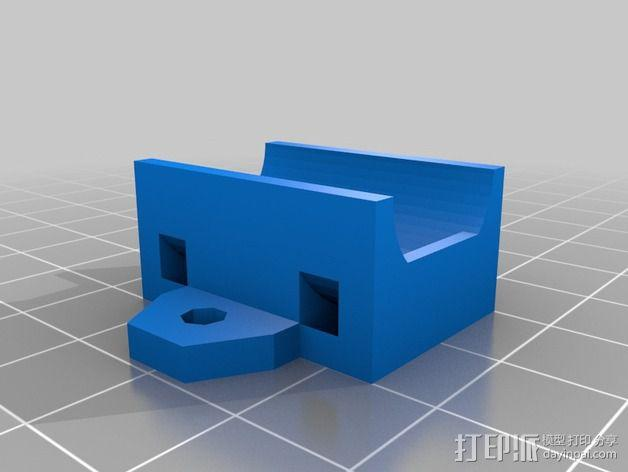 轴承支架 轴承套管 3D模型  图2