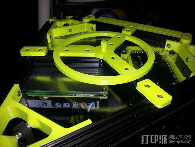 线轴卷 线轴卷线器 线轴支架 3D模型  图4