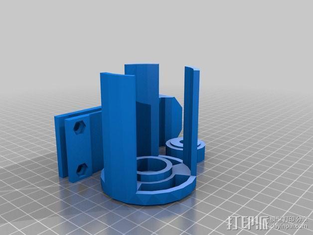 线轴支架 3D模型  图10