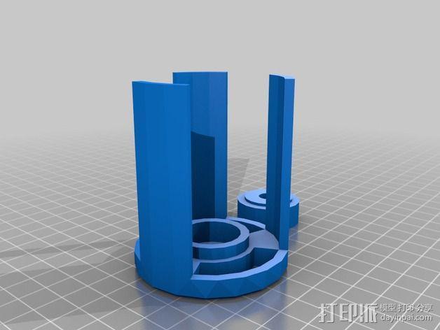 线轴支架 3D模型  图12