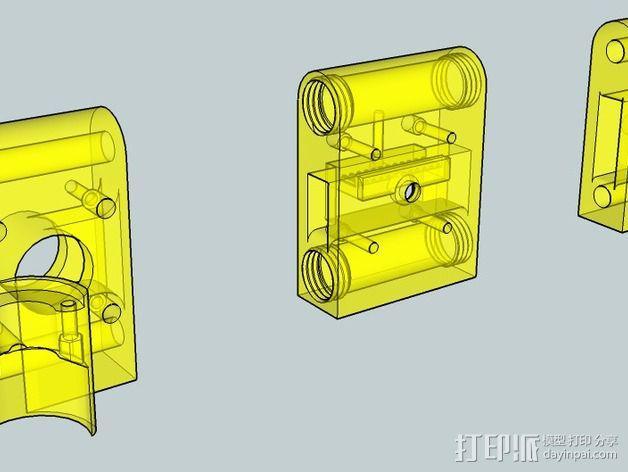 OneUp/ TwoUp框架 零部件 3D模型  图2