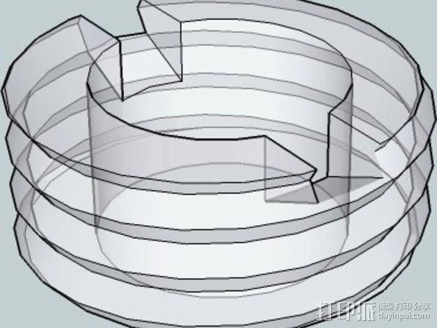 OneUp/ TwoUp框架 零部件 3D模型  图13
