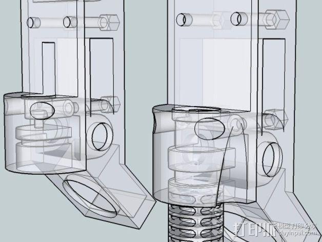 OneUp/ TwoUp框架 零部件 3D模型  图16