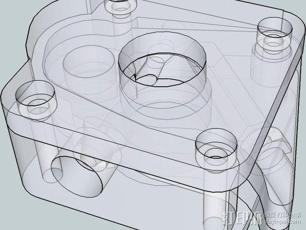 OneUp/ TwoUp框架 零部件 3D模型  图20