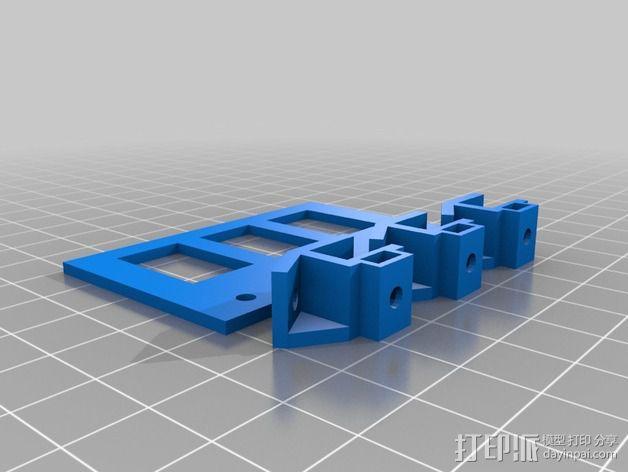 摇臂开关面板 3D模型  图2
