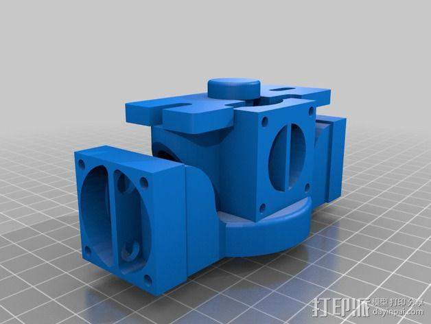 挤出机散热装置 3D模型  图3