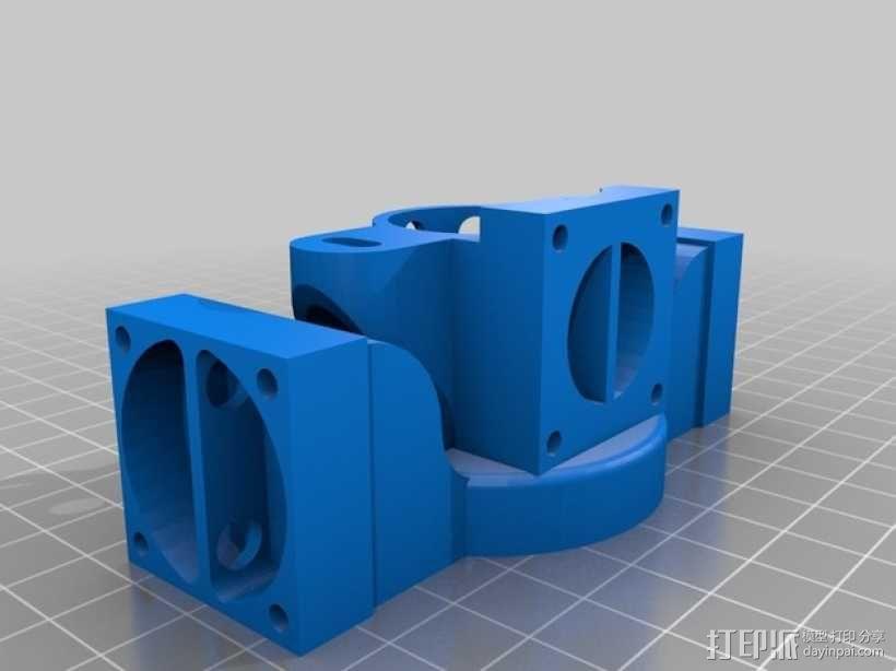 挤出机散热装置 3D模型  图1