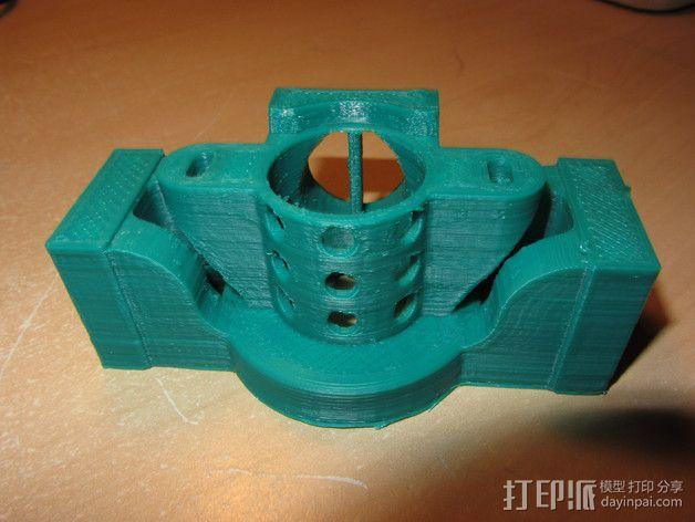 挤出机散热装置 3D模型  图4
