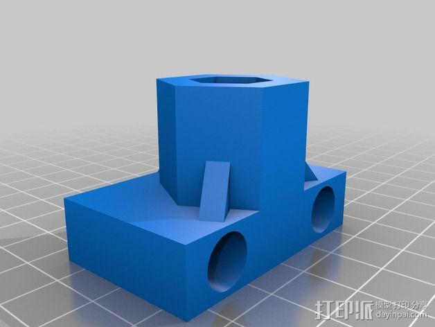 Z轴齿隙消除装置 3D模型  图3