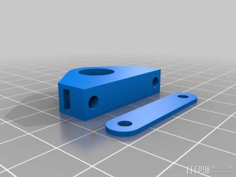 Y轴拍杆支架 3D模型  图2