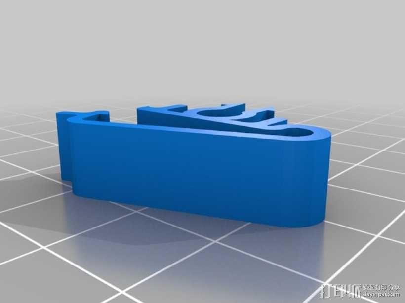 线夹 线材夹 3D模型  图3