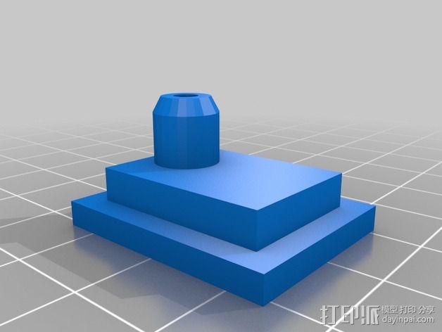 挤出机导线器 3D模型  图2