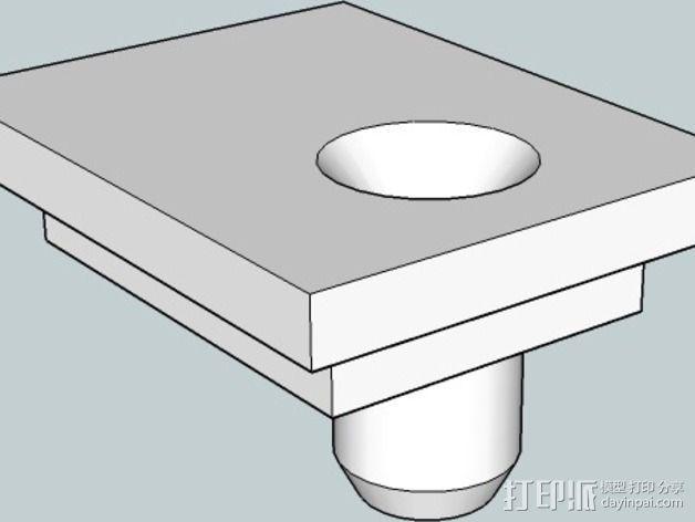 挤出机导线器 3D模型  图1