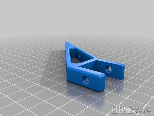 控制器液晶显示屏支架 3D模型  图4