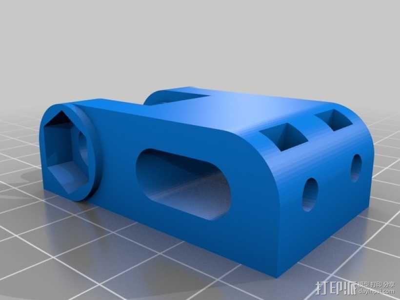 惰轮轴承支架 3D模型  图1