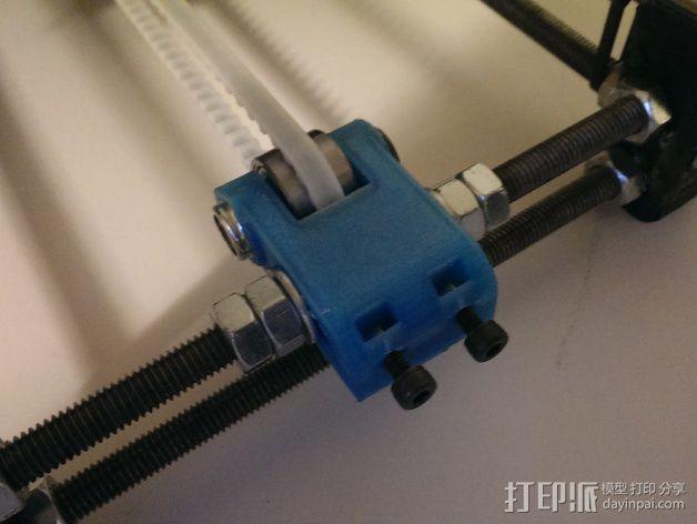 惰轮轴承支架 3D模型  图2