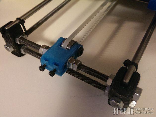 惰轮轴承支架 3D模型  图3