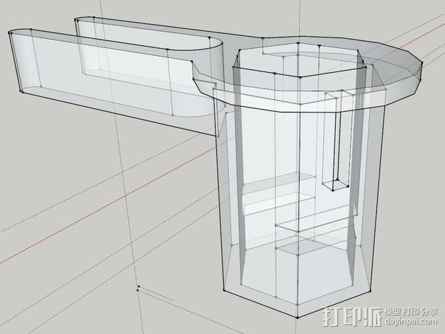 打印机防震器 3D模型  图4