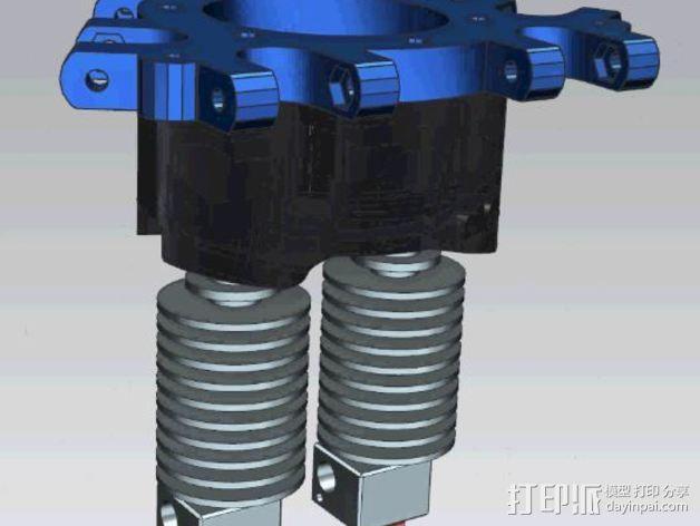 打印机喷嘴适配器 3D模型  图4