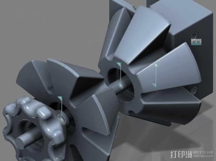 线圈座 卷料闸 3D模型  图4