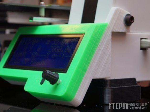 控制器液晶显示屏外框 3D模型  图1