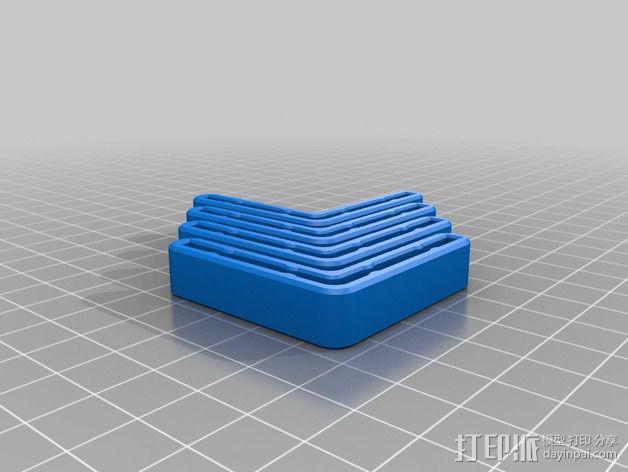 打印机角托  稳定器  3D模型  图2