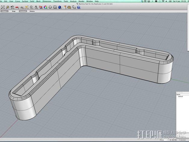 打印机角托  稳定器  3D模型  图4