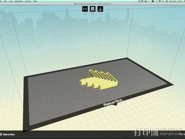 打印机角托  稳定器  3D模型  图5