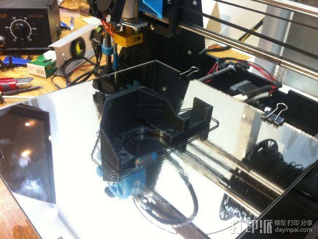 马达支架 3D模型  图4