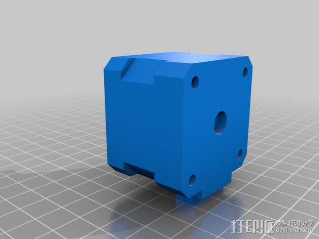 NEMA 17步进电机盒 3D模型  图1