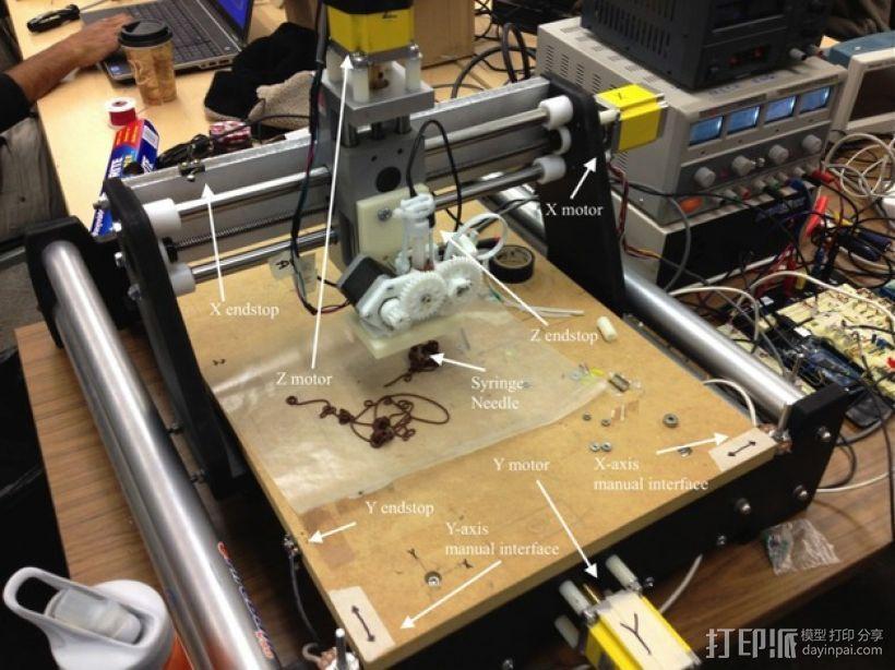 巧克力3D打印机 3D模型  图5