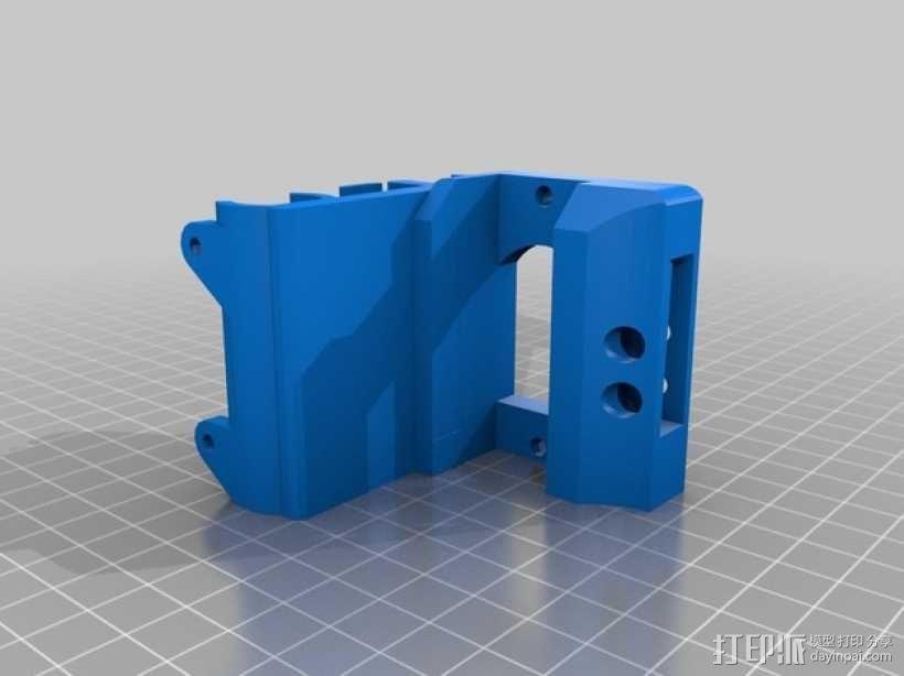 打印机金属挤出机支架 3D模型  图2