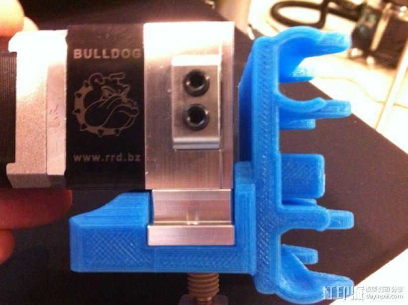 打印机金属挤出机支架 3D模型  图1