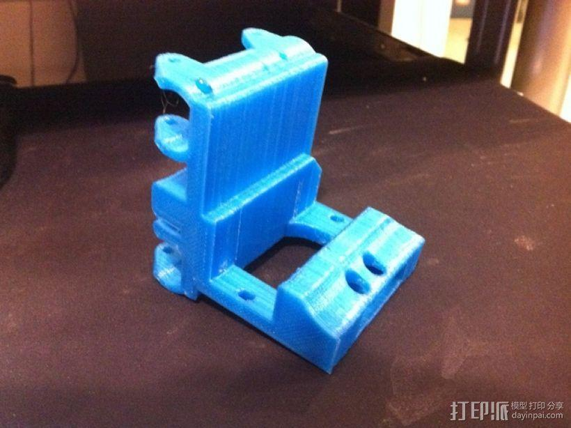 打印机金属挤出机支架 3D模型  图6