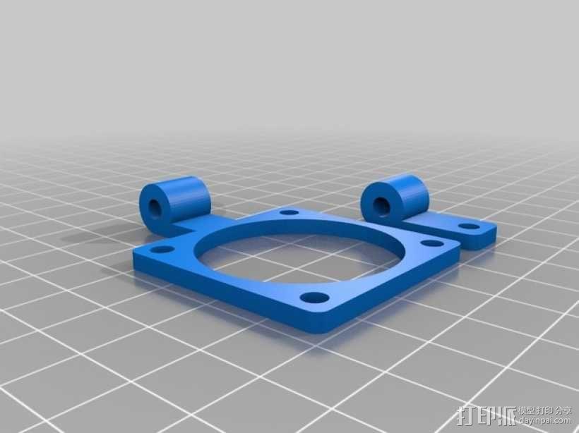 风扇支架 风扇框 3D模型  图1