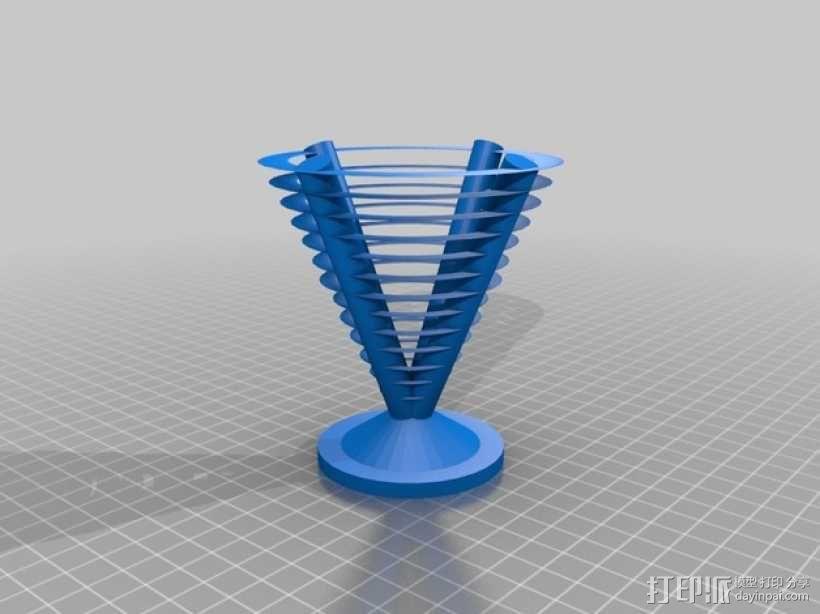 圆锥 环形垂悬测试 3D模型  图2