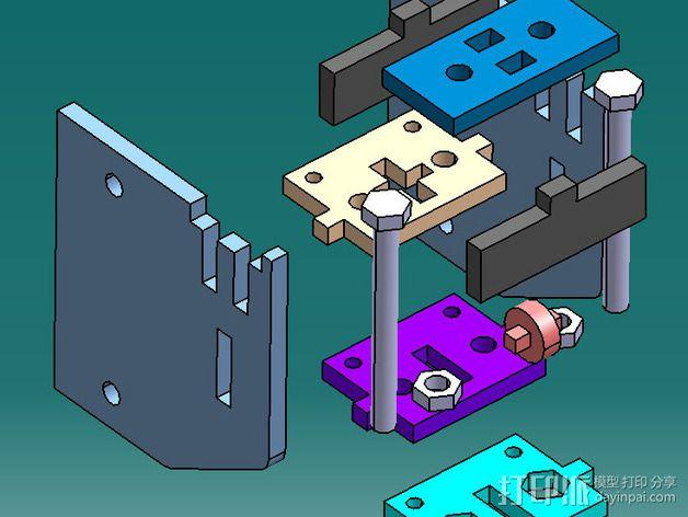Delta 式打印机 3D模型  图4