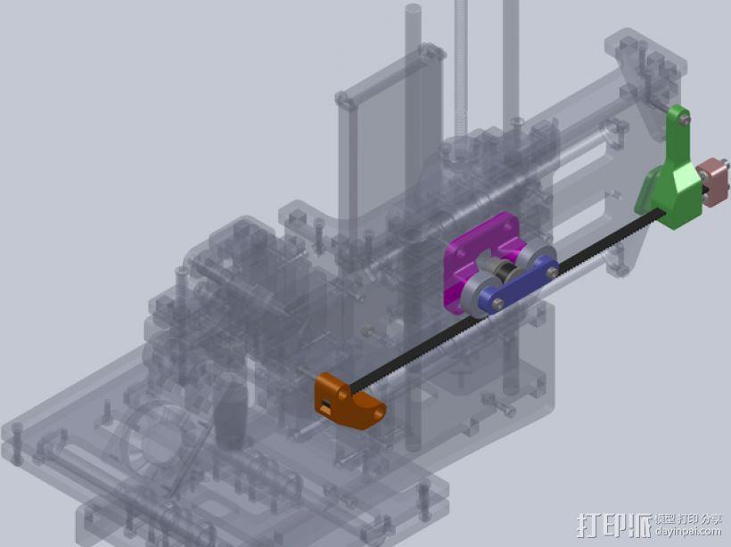 正时皮带套件 3D模型  图1