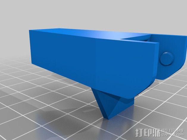 打印机X轴锚链 3D模型  图2