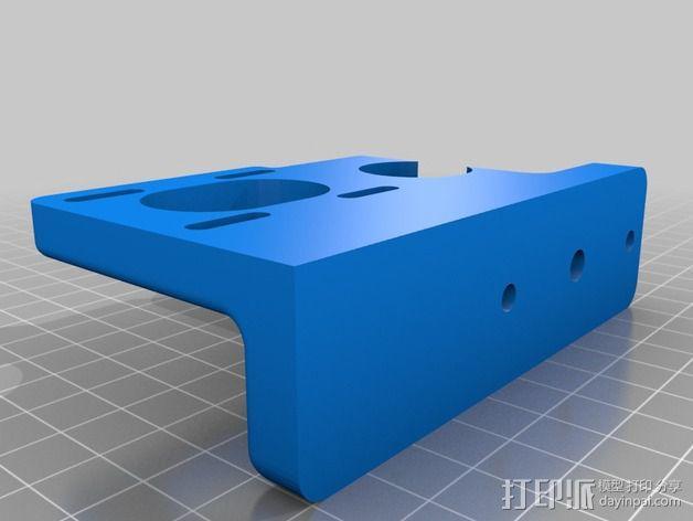 Greg's Wade皮带传动挤出机 3D模型  图3