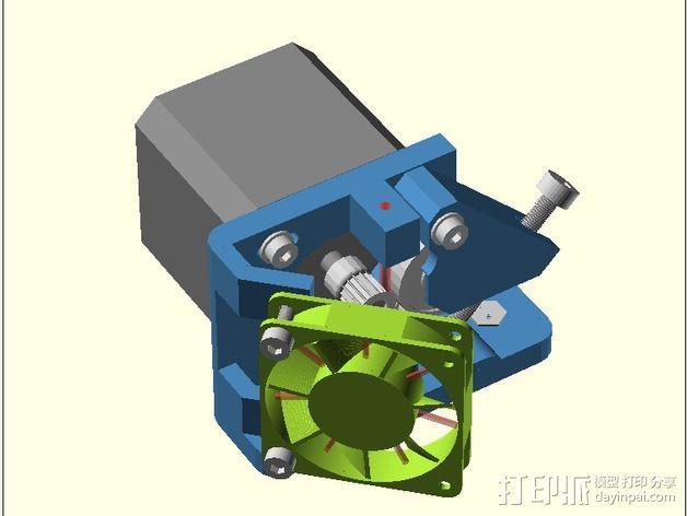 直线驱动Nema 17/23挤出机 3D模型  图1