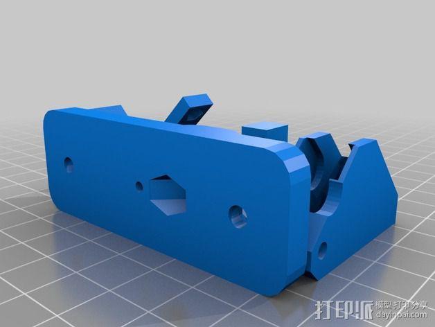 直线驱动Nema 17/23挤出机 3D模型  图2