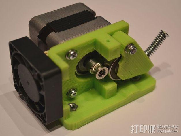 直线驱动Nema 17/23挤出机 3D模型  图5