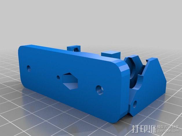 直线驱动Nema 17/23挤出机 3D模型  图4