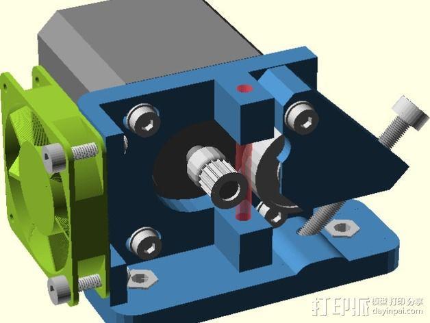 直线驱动Nema 17/23挤出机 3D模型  图3