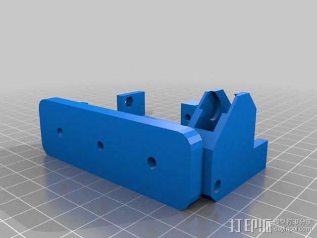 直线驱动Nema 17/23挤出机 3D模型  图7