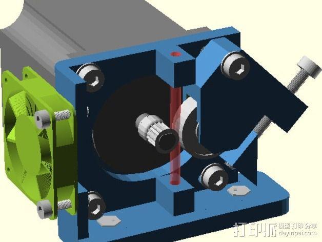直线驱动Nema 17/23挤出机 3D模型  图6