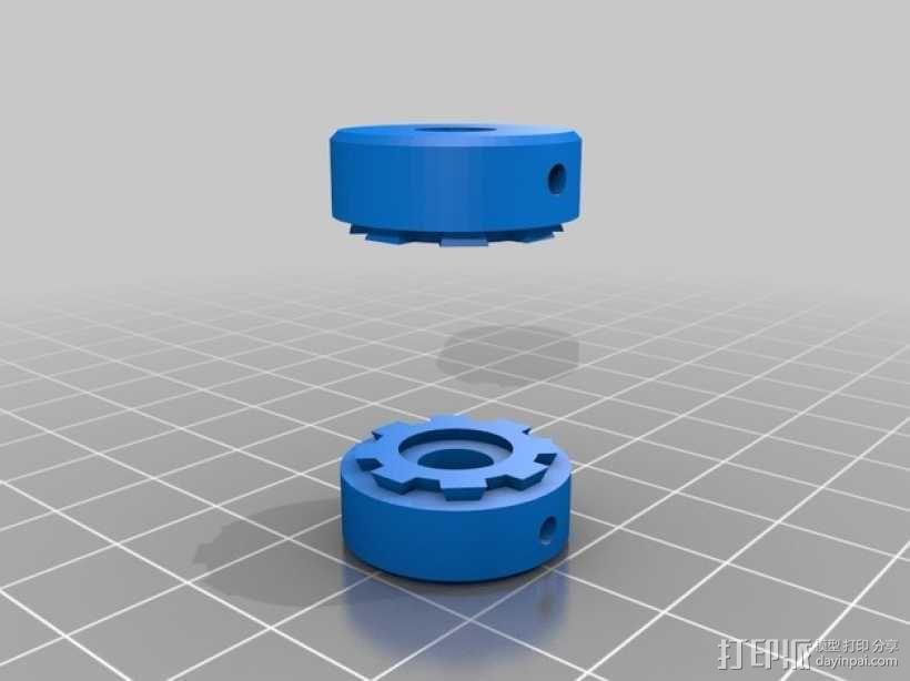 弹性耦合器 3D模型  图1